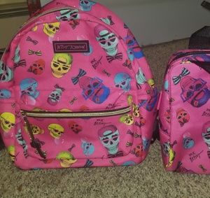 Betsey Johnson backpack and lunchbox